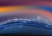 Modrá voda Dynamické pozadí vektorové ilustrace Design