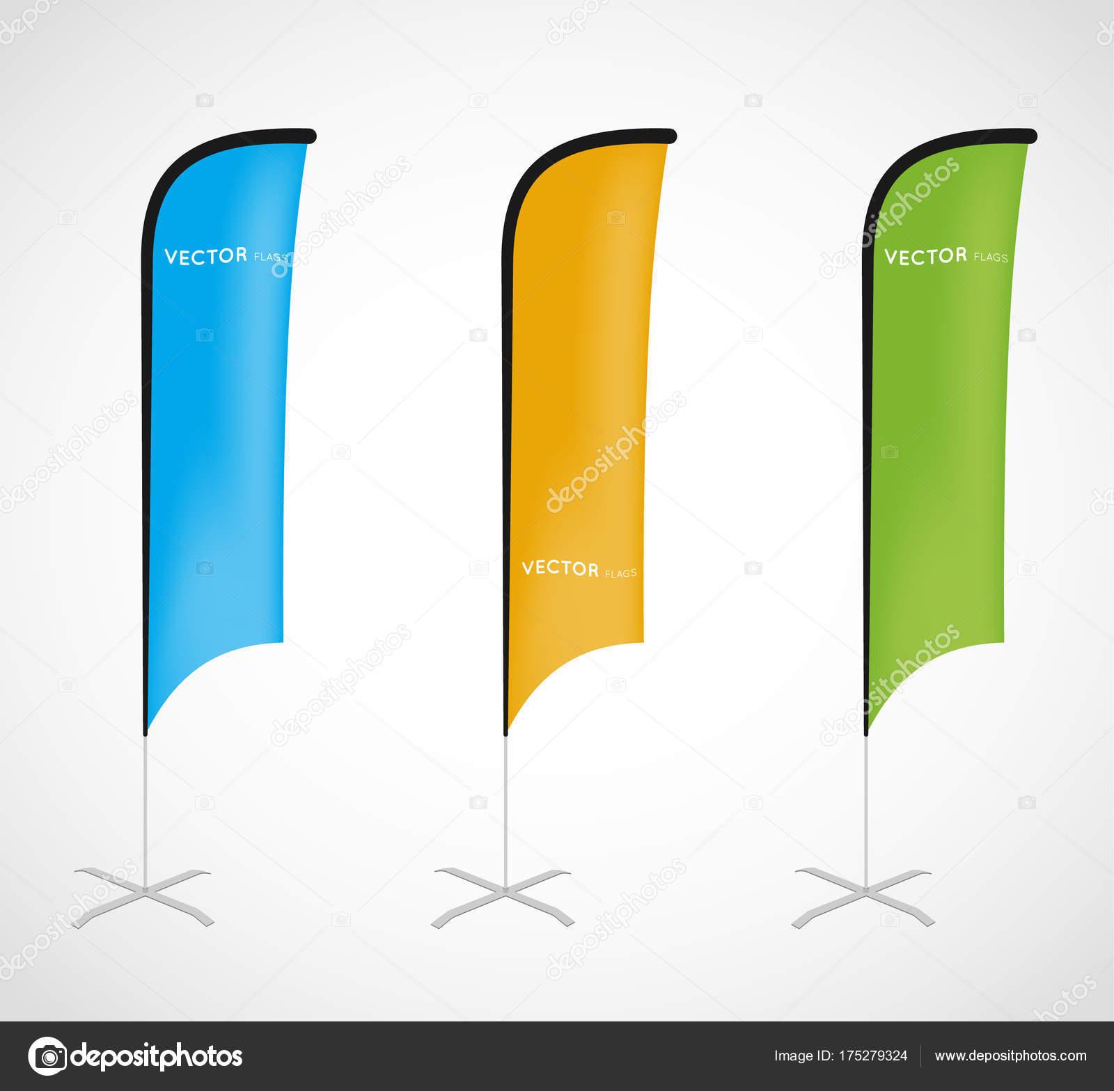 Flag Banner Stand Stockvektor Rchvision 175279324