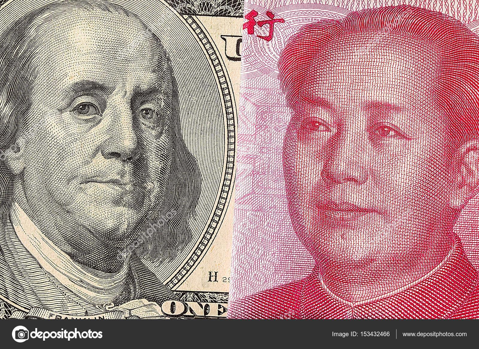 Us Dollar Bill And China Yuan Banknote Macro Stock Editorial Photo C Mars58 153432466