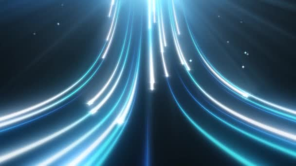 Magical Glow Particle Trails of Digital Data Stream Flow Light Rays - 4K Seamless Loop Motion Háttér Animáció