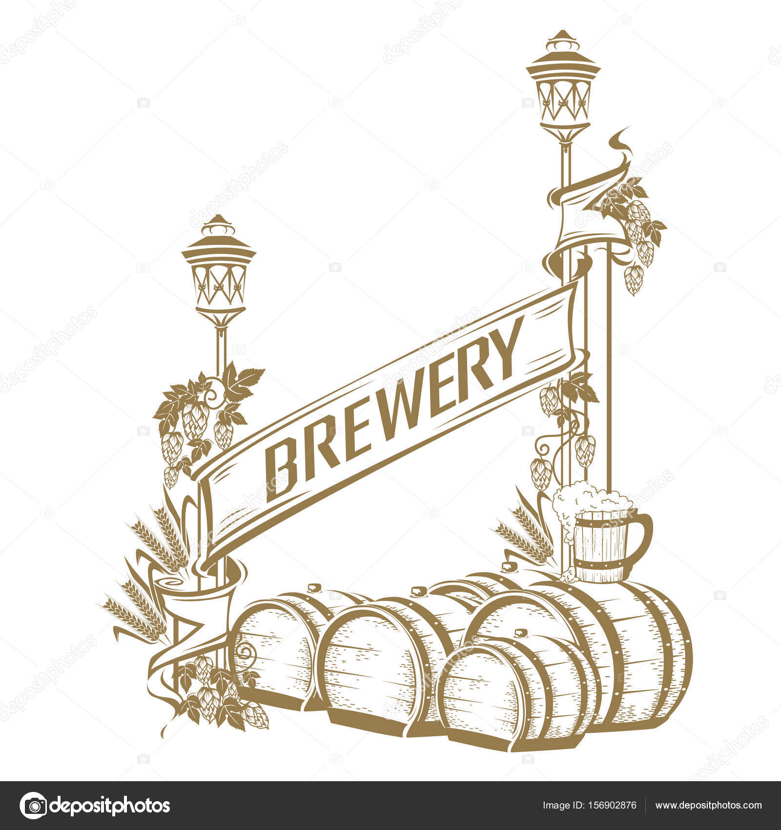 Vintage beer frame — Stock Vector © Liana2012 #156902876