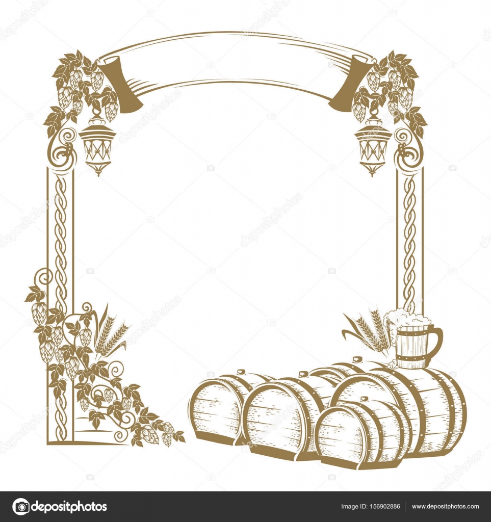 Vintage beer frame — Stock Vector © Liana2012 #156902886