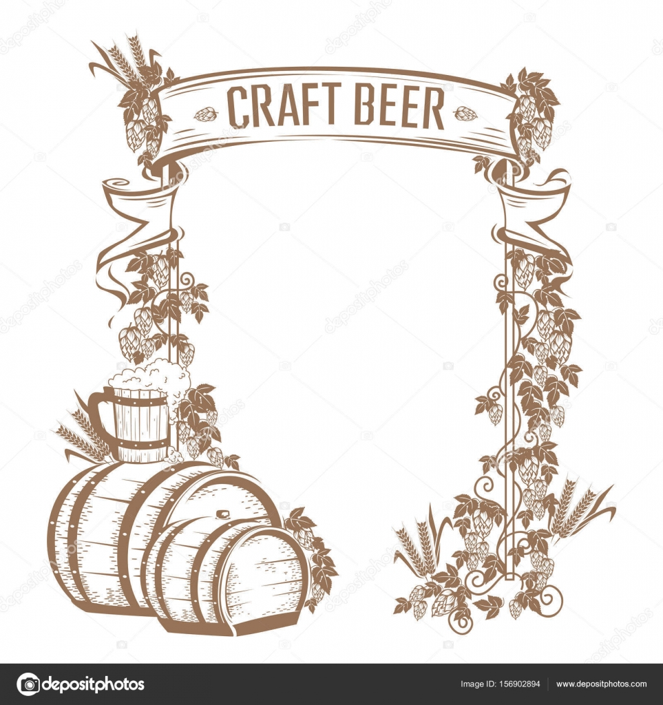 Vintage beer frame — Stock Vector © Liana2012 #156902894
