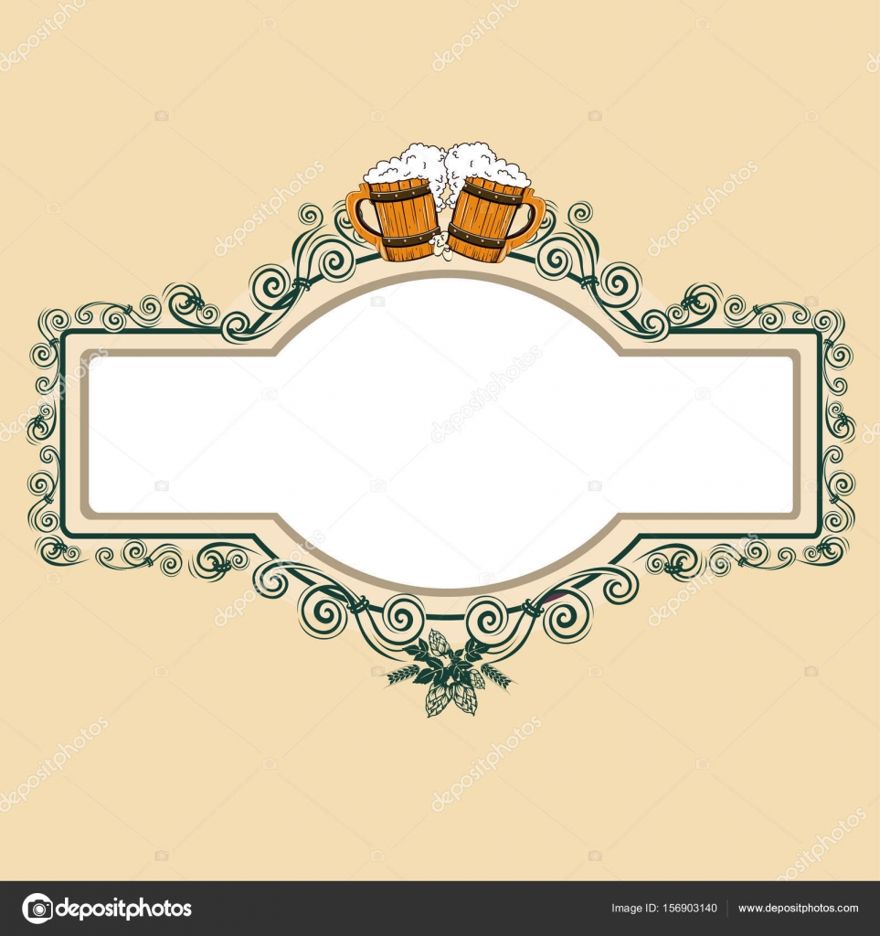 Vintage beer frame — Stock Vector © Liana2012 #156903140
