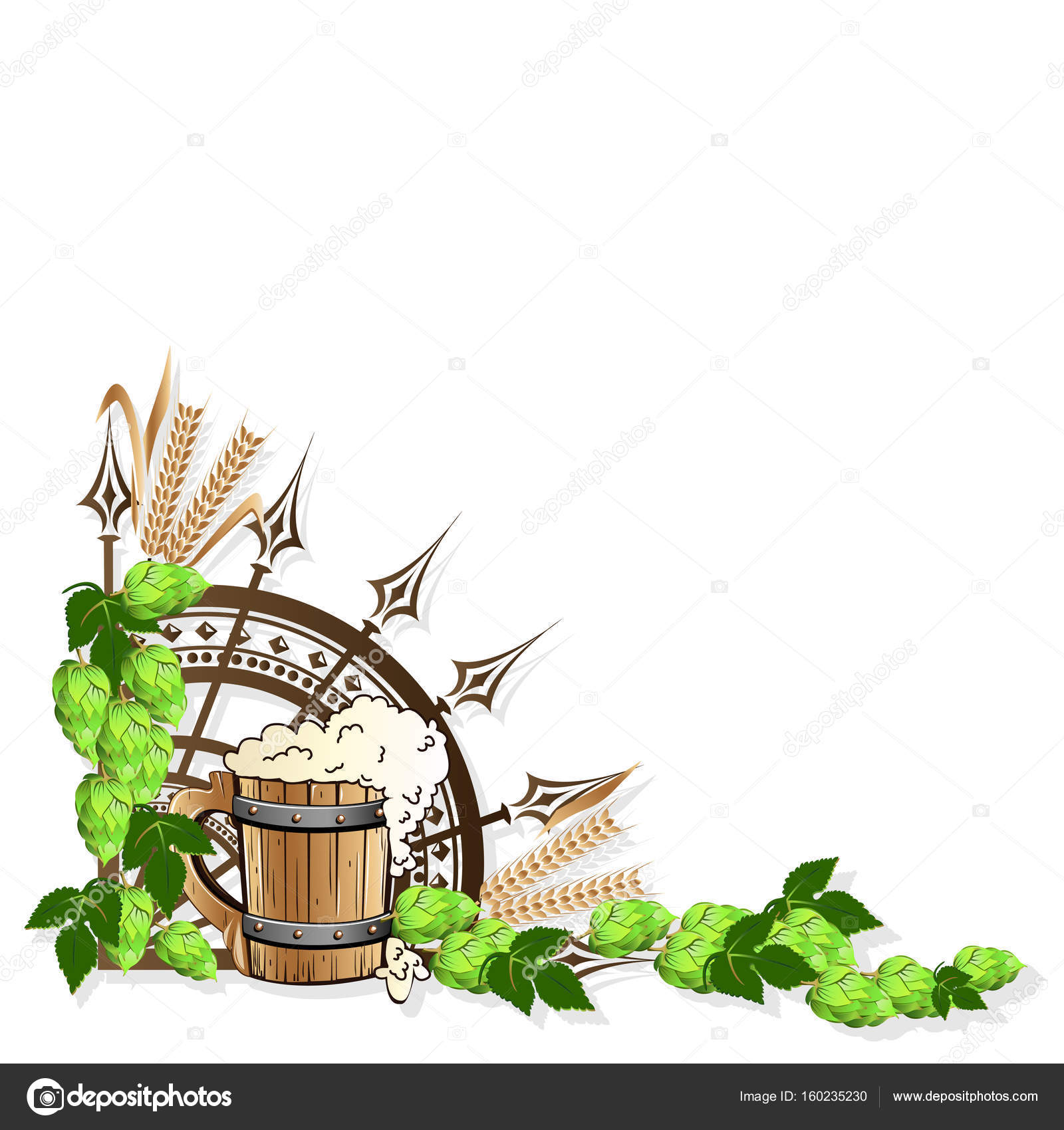 Beer frame with vintage elements — Stock Vector © Liana2012 #160235230