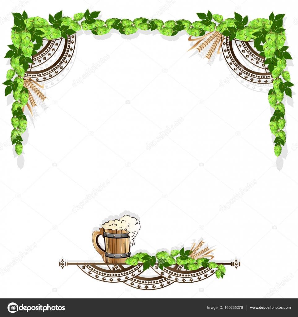 Bier-Rahmen mit Vintage-Elemente — Stockvektor © Liana2012 #160235276