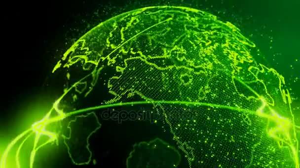 4k plynulé Video krásné zelené země smyčka pro vaše pozadí nebo intro
