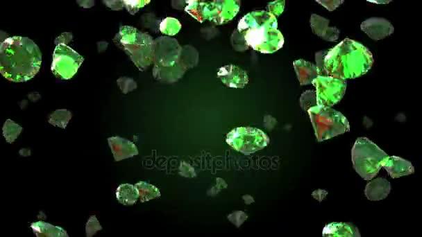 Padající diamanty krásné pozadí. Seamless smyčce