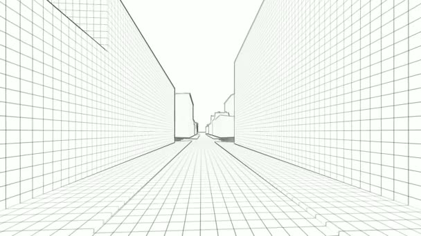 3d sketched town on white