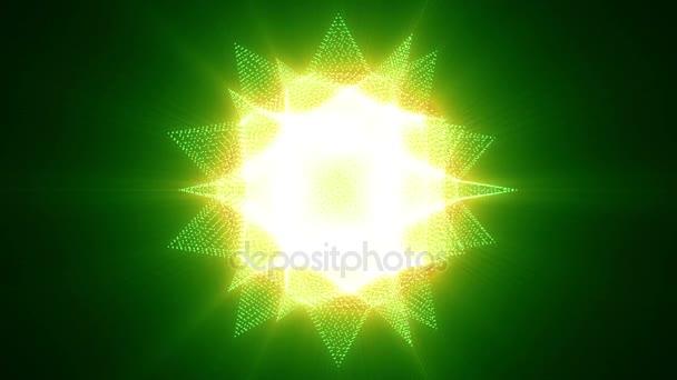 Abstraktní pohybu žluté zelené barvy hvězdné pozadí, zářící světla schopný na bezešvé smyčka