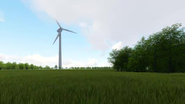 Wind power technology 3D render