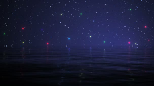 Night Sky ocean and color stars