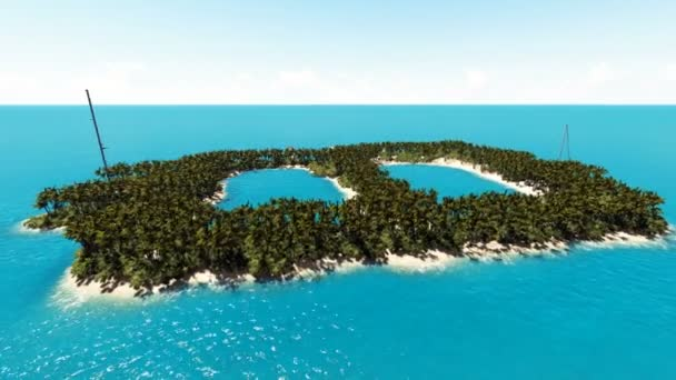 Tropical island in the form of Bitcoin