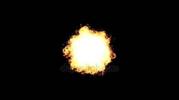Výbuch ohně jiskru na černém pozadí