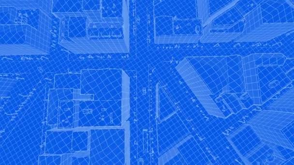 Abstrakten Blaupause des zeitgenössischen Gebäude und Verkehr Autos ...