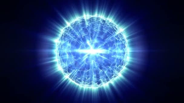 Pozadí modré abstraktní pohybu, zářící světla, vlny energie na černém pozadí