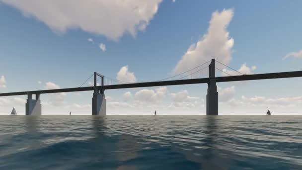 Most a oceánu s lodí