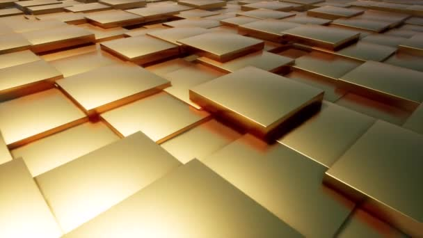 Zlaté krabice ve 3D stylu. Stojan s výrobky. Uchovávejte displej. Luxusní zlaté pozadí. Pozadí banneru. Zobrazení polic krychle. Šablona 3D boxu.