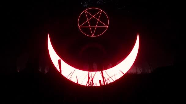 Okultní znamení Satan Star Mystic, magie, pozadí. Otisk ročníku. Starověký symbol. Ikona lebky. Symbol smrti.