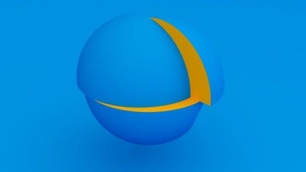 Puzzle kusů modré koule schopen smyčky bezešvé