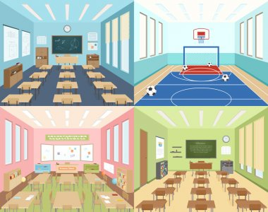 School classrooms and sportroom