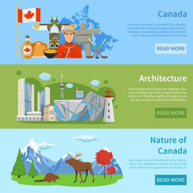 Canada Travel Information 3 Flat Banners