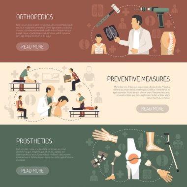 Orthopedics And Traumatology Horizontal Banners