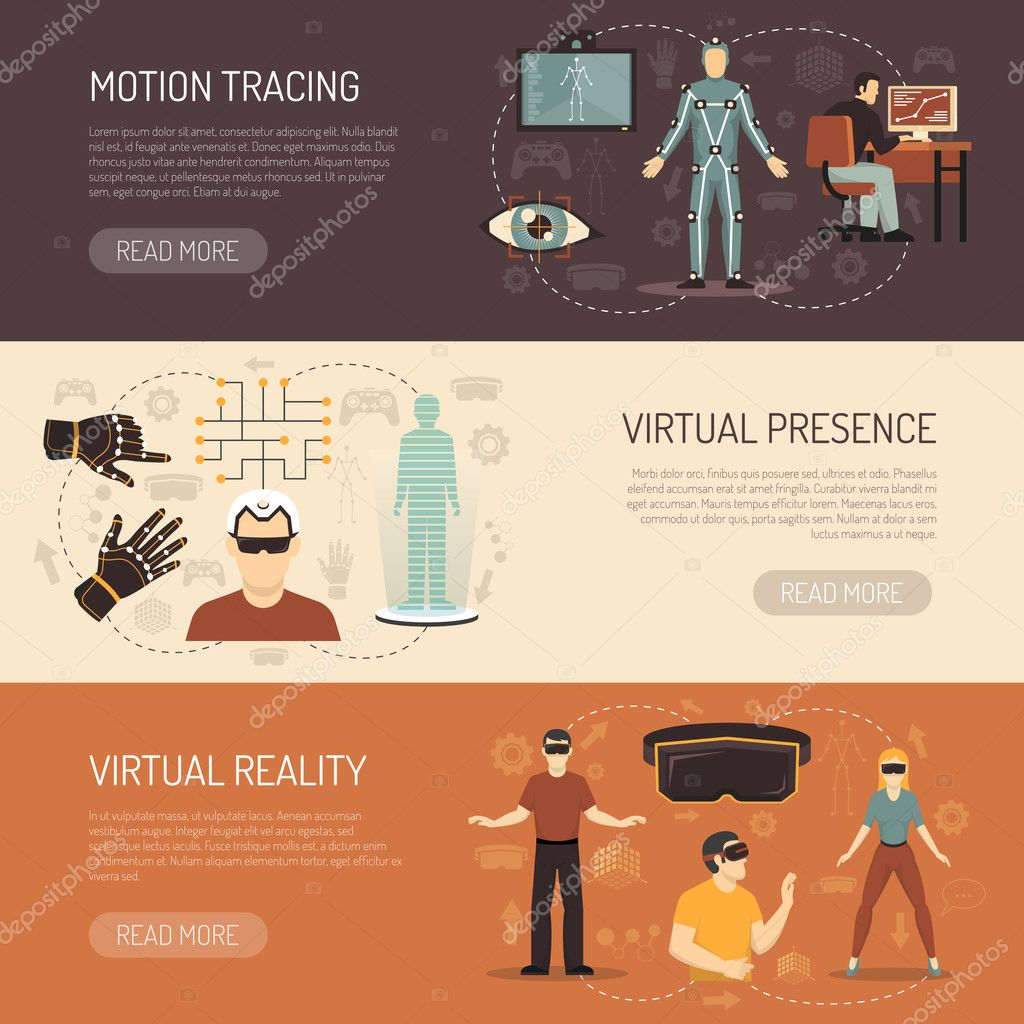 Virtual Reality Games Banners