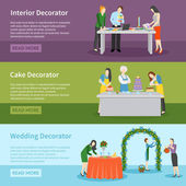 Fotografie Interior Design Wedding Decoration Banners Set