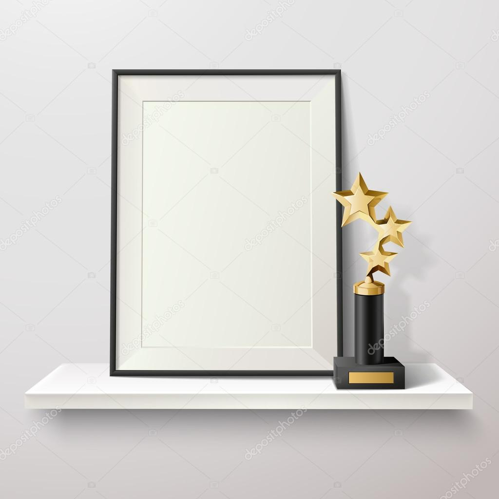 Trophy And Frame Illustration — Stock Vector © macrovector #126018238