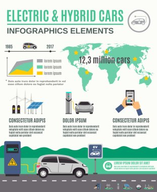 Electric And Hybrid Cars Infographic Poster