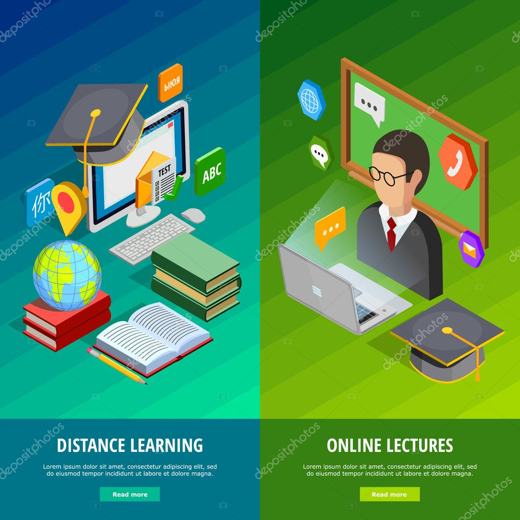 Online Learning Vertical Banners Set
