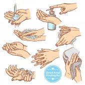 Sketch Hands Washing Hygiene Set
