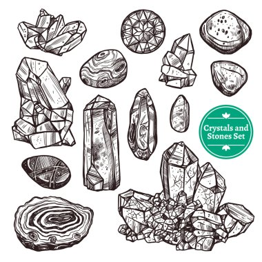Crystals And Stones Set