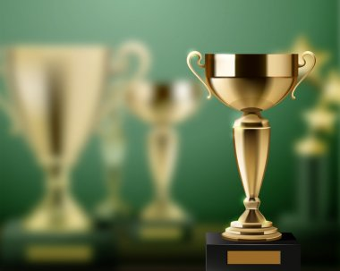 Trophy Awards Realistic Background