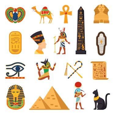 Egypt Touristic Icons Set