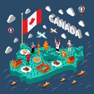 Canada Isometric Map
