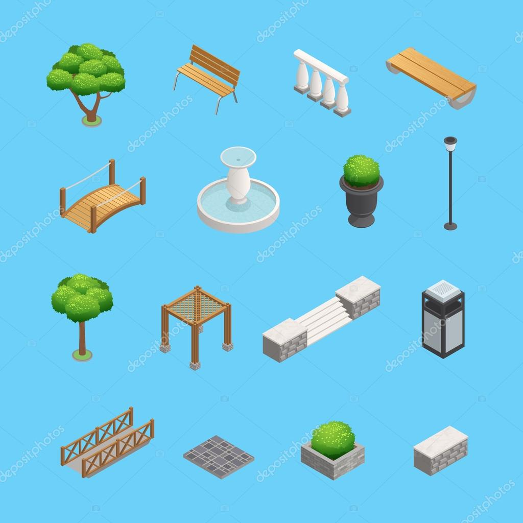 Landscaping Isometric Elements