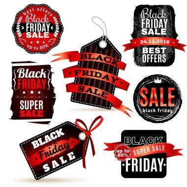 Black Fridays Labels Set
