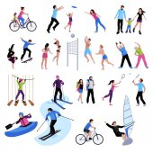 Fotografie Aktive Freizeitgestaltung Leute Icons Set