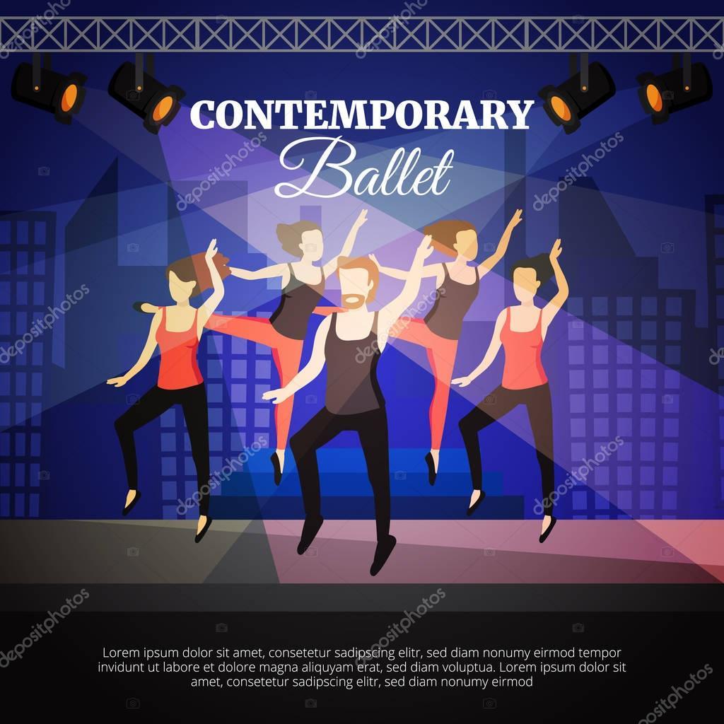 Contemporary Ballet Illustration