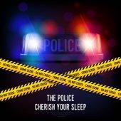 Policie zločinu pásku a siréna