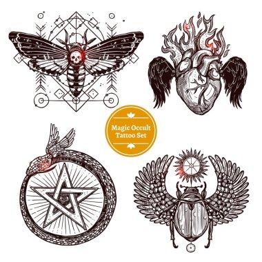 Magic Occult Tattoo Set