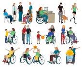 Fotografie Menschen mit Behinderungen Icons Set