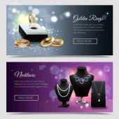 Šperky realistické bannery