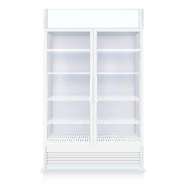 Realistic Empty Freezer