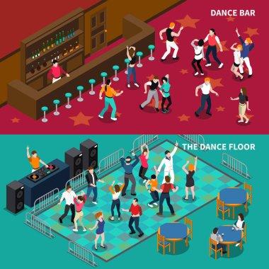 Bar Dance Floor 2 Isometric Banners