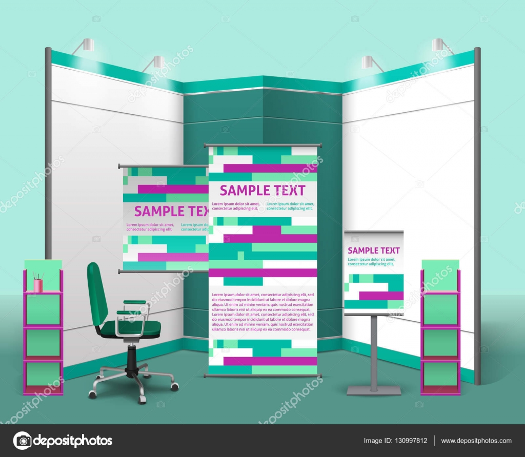 Exhibition Stand Design Template : Exhibition stand design template — stock vector