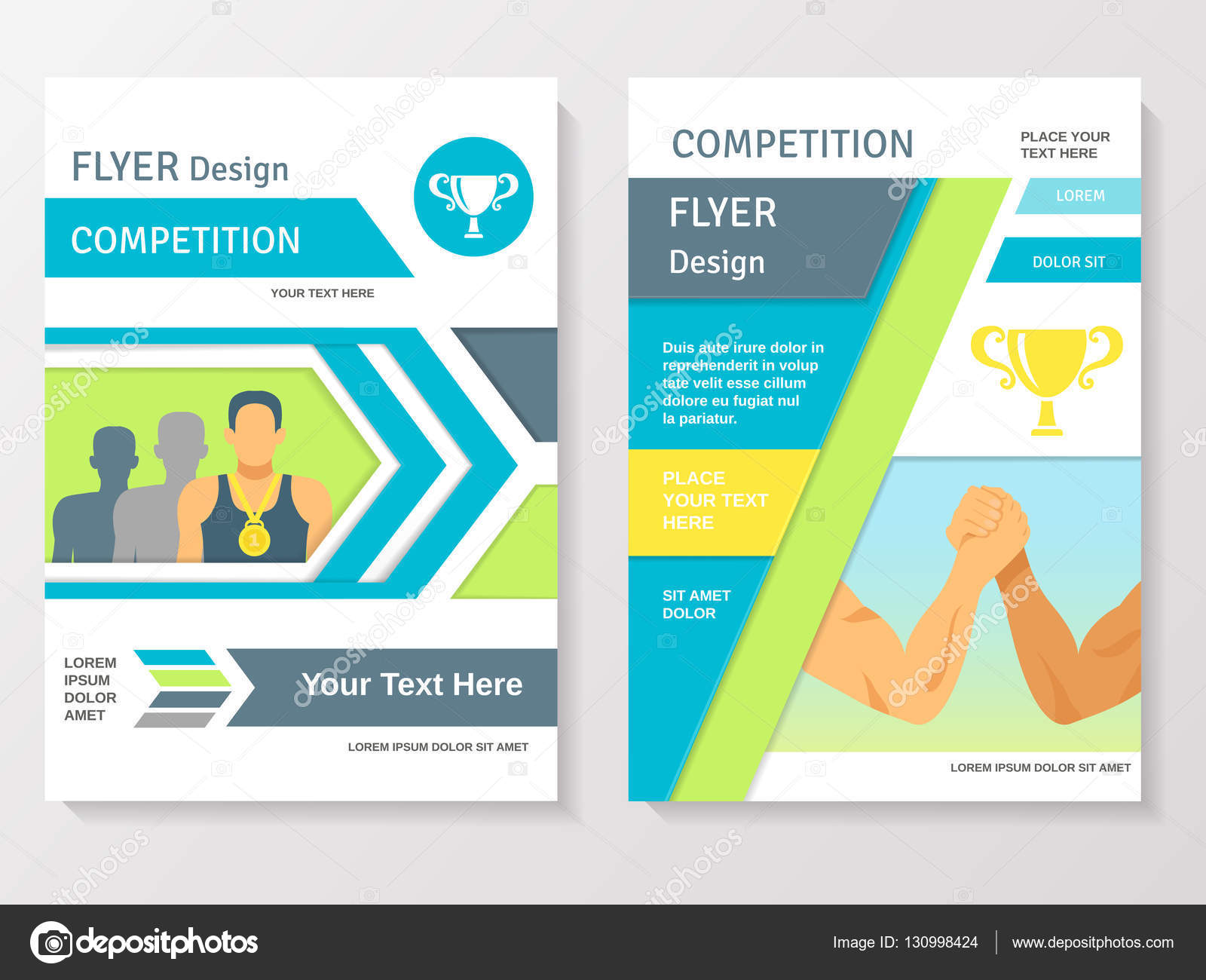 Sports Competition Flyer Template Vector macrovector – Competition Flyer Template