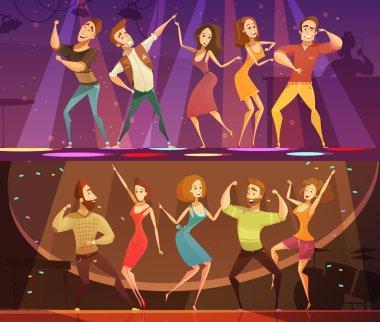 Night Club Disco Dance  Banners Set